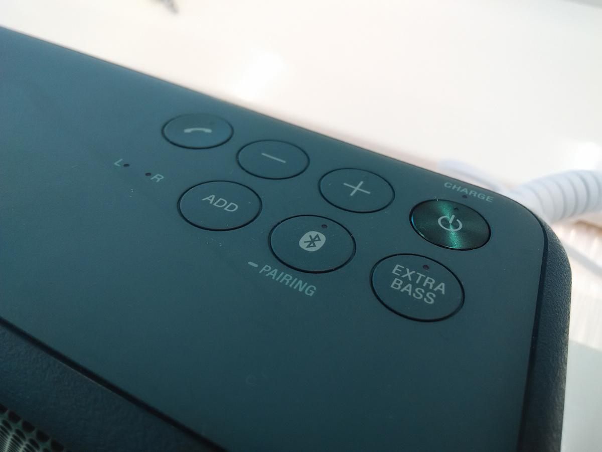 Sony SRS XB3 Tasten