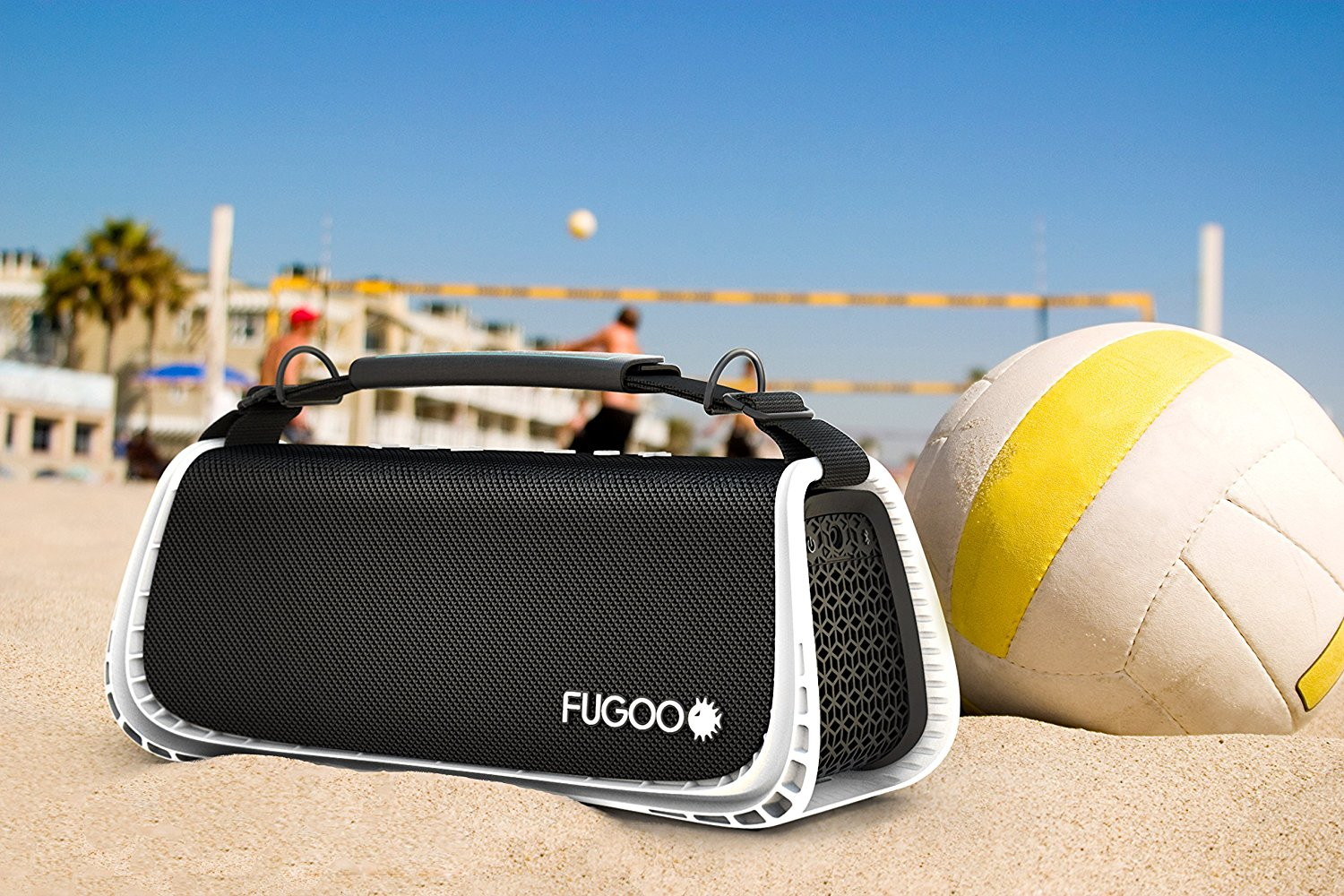 Fugoo XL Sport am Strand