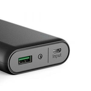 Quickcharge port an einem Anker PowerCore