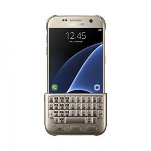 Samsung S7 mit angestecktem Keyboard