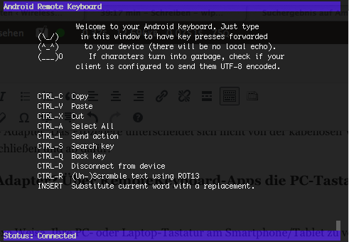Remote Keyboard Screen