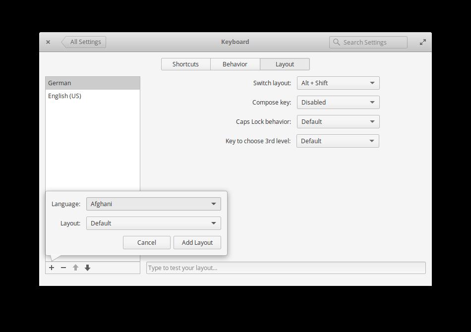 Keyboard-hinzufügen-linux