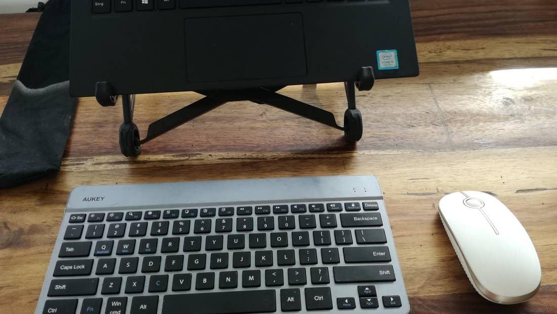 Setup mit Laptopständer