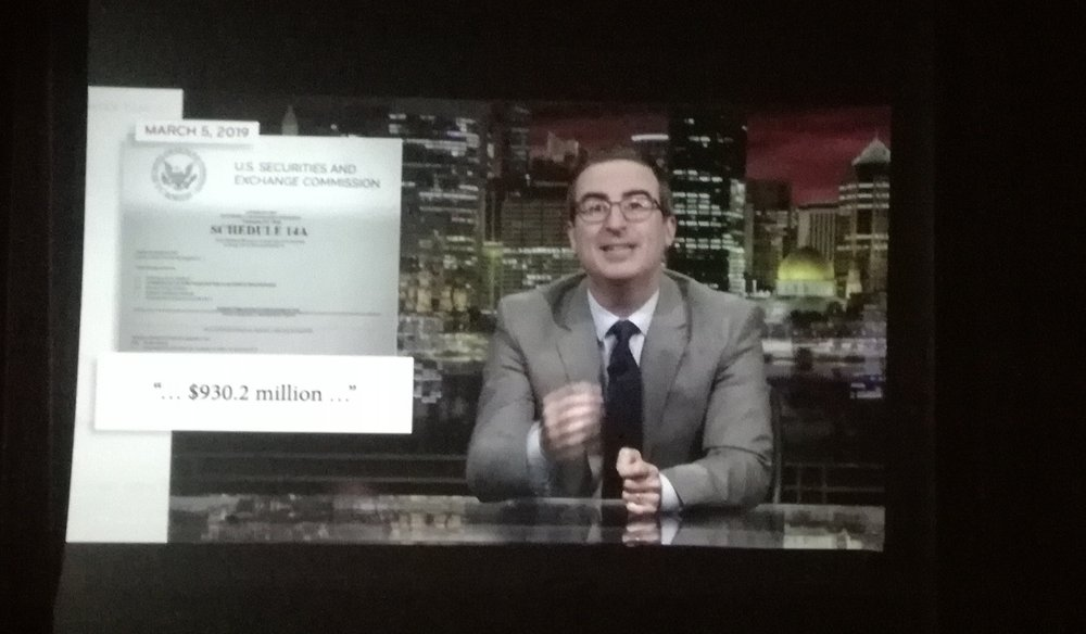 Last Week Tonight am GV1